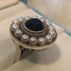 Tiffany & Co Ziegfeld Collection Onyx Pearl Ring